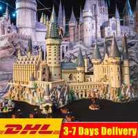 2018 Compatible con Legoings 71043 educativos 16060, 6742 piezas Harry magia Potter Hogwarts Castillo de bloques de construcción ladrillos de juguete para niños DIY