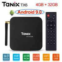 Tanix TX6 Android 9 Caja de TV inteligente android 9,0 Allwinner H6 4 GB RAM 32 GB ROM 4 K h.265 2,4G/5 GHz WiFi BT4.1 reproductor de medios