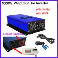 1000 W inversor del lazo de la rejilla del viento conectado 1KW inversor MPPT con wifi plug resistencia de carga volcado 22-65 v 45-90 v 3 fases de entrada de CA