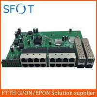 POE interruptor inverso junta con 16 puertos FE + 4 puertos SFP