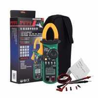 Digital clamp meter mastech MS2108A gama auto multímetro AC/DC resistencia de condensador de voltaje abrazadera probador de resistencia