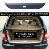 Pour mercedes-benz ML W164 ML300 ML350 ML500 2006-2012 couvercle de coffre arrière protection de sécurité accessoires ombre