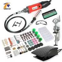 TUNGFULL taladro eléctrico 500 W herramientas Dremel de carpintería de la máquina de pulir herramienta rotativa Dremel Mini máquina de grabado