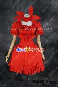 Danza en el vampiro Bund Cosplay mina tepes traje de vestido rojo H008