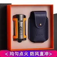 LUBINSKI Gadgets a prueba de viento 1 antorcha llama cigarrillo encendedor butano Gas fumar encendedores con caja de regalo agradable