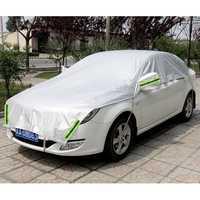 Personalizable. Universal impermeable de aluminio sin parasol para ventanillas de coche cubrir la mitad cubre protección para salón Hatchback SUV