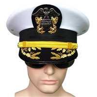 Sombrero del ejército oficial americano visera sombreros hombres para cosplay militar águila emblema sombreros Halloween navidad regalo noble ejército de EE. UU. Marina tapa