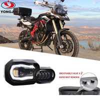 Phare LED de faisceau haut/bas avec Kit d'assemblage Angel Eye DRL et phare de remplacement pour BMW F650GS/F700GS/F800GS F800 GSA