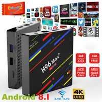 EStgoSZ H96 MAX Plus Android 8,1 smart TV Box 4 GB RAM 64 GB ROM Set Top Box RK3328 2,4 g/5G Wifi 4 K H.265 4 GB 32 GB Media Player