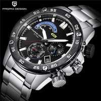 2019 de los hombres relojes PAGANI diseño marca de lujo reloj de cuarzo Acero inoxidable 30 M impermeable deporte cronógrafo reloj hombre