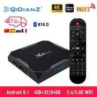 X96 Max Smart tv box Android 8,1 a 2,4G/5G Wifi Bluetooth 4,0 S905X2 Quad Core 4 K full HD 1080 P Netflix reproductor X96max Set-Top Box