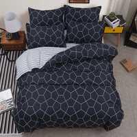 Colchas de algodón acolchado edredón unids 2 piezas funda de almohada edredón aire acondicionado manta cama cubierta King Queen doble tamaño completo 4 unids/set