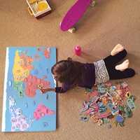 Carte du monde magnétique pour enfant Montessori matériaux jouets éducatifs pour enfants aimant monde Cognition culturelle Puzzles oyuncak