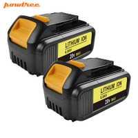 Powtree para DeWalt 20 V 6000 mAh DCB200 MAX recargable batería de herramientas eléctricas de DCB181 DCB182 DCB204 DCB101 DCF885