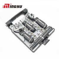 46 piezas Socket Set kit destornilladores llave llaves de trinquete herramientas de mano para hogar HERRAMIENTA DE LA REPARACIÓN Auto para el coche