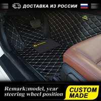 Tapis de sol 3D étanche pour Nissan patrouille 2004-2019 Y61 Y62 luxe-Surround 3D tapis de sol en cuir voiture style PU personnalisé