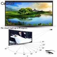 Pantalla del proyector 16:10 Portable películas al aire libre cortina de proyección 170 grados ángulo de visión conferencias poliéster plegable