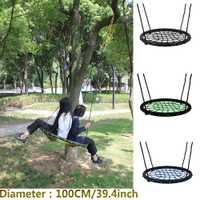 Hijos nido swing de interior y al aire libre de los niños neto cuerda fuerte bebé juguetes teniendo 200 kg diámetro 100 cm