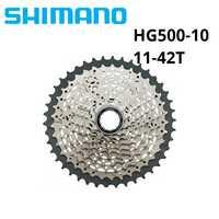 Shimano HG50 HG500 10 velocidad M6000 cassette mtb bicicleta de montaña bicicleta de rueda libre HG-500-10 11-34 T 11-36 T 11-42 T