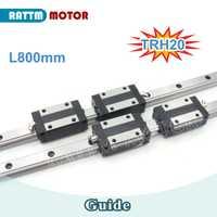 20mm cuadrado lineal carril guía TRH20 800mm y TRH20B bloque deslizante para CNC Router + TRH20B bloque cuadrado