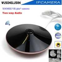 CCTV panorámico Wifi cámara Ip al aire libre Yoosee ojo de pez 360 grados 960 P CMOS Sensor soporte P2P Onvif tarjeta SD P2P casa Cámara inteligente