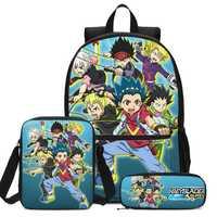 De moda de Beyblade estallar juego bolso bolsas de la escuela 3 Set/pcs mochilas Escolares de los niños de la Escuela de chicas Mochila Escolares Infantis