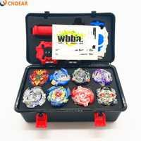 Spin top ráfaga de Toupie de fusión metálica conjunto negro caja de 1 hoja lanzador explosión Juguetes Para Childn juguete