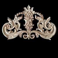 Muebles esquina apliques de madera Marco de decoración de pared puerta de madera calcomanía estatuilla adornos decoración del hogar Accesorios 34x22 cm