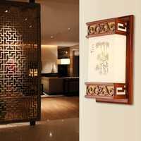 De piel de oveja de lámpara de pared de estilo chino clásico lámparas de habitación luces restaurante lámpara de pared luces de pasillo