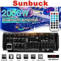 2000W 110 V/220 V 2 canaux bluetooth maison stéréo puissance amplificateur Audio USB SD amplificateurs à distance amplificateur de Subwoofer