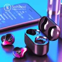 Samload cierto auriculares inalámbricos Bluetooth 5,0 oreja bud Deep bass auriculares Sweatproof deportes auriculares para Apple iPhone 5S 6 7 s 8 X