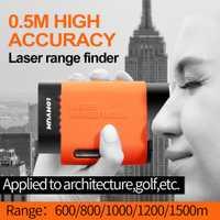 LOMVUM multifunción láser de mano telémetro telescopio medidor de distancia medida cinta de ahorro y accesorios osciloscopios 600-1500 m