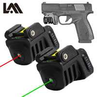 Pistola Mini rojo/láser verde militar táctico de USB recargable casi Glock Colt 1911 Taurus pistola compacta pistola