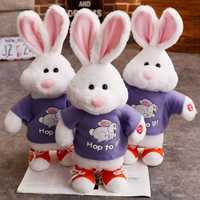 1 piezas 50 cm electrónicos Robot conejo hablando saltando cantando lindo interactivo conejo electrónica de peluche juguetes de peluche para los niños