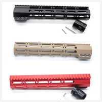 Tactical AR15 negro/Tan/rojo Estilo de sujeción 11 ''pulgadas m-lok Rifle Handguard Rail para la caza