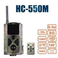 Visión Nocturna Cámara del rastro caza 16MP 1080 p GPRS MMS Suntek HC550M infrarrojos fauna foto trampas