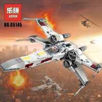 Educativos Starwars 05145 estrella Plan guerras luchador X nueva ala Guerrero bloques de construcción conjunto 75218 ladrillos Legoinglys juguetes de los niños