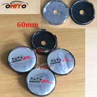 100 unids/lote SSR Centro Cap 60mm tapas de rueda Rojo Negro SSR emblema cubierta de la rueda tapas Hubcaps estilo de coche