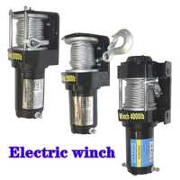 Treuil voiture tuning treuil électrique 2000/3000/4000/4500/6000/9500/12000lb12v poignée/câble sans fil ATV treuils pour buggy de plage