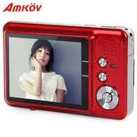 Amkov AMK-CDFE cámara profesional 8mp 2,7 pulgadas de aluminio + plástico soporte multi-idioma Mini cámara portátil HD cámara Digital