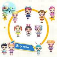 12 unids/set genuino DIY niños juguete eaki para lols muñecas BJD muñeca Original rompecabezas juguetes para niños regalos de navidad cumpleaños