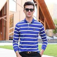 Llegada de un nuevo Otoño de manga larga casual de negocios camisa de polo de los hombres clásico Englang estilo rayas Hombre camisa plus tamaño XXXL 2900