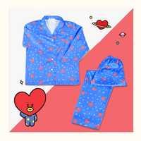 Nuevo BTS Bangtan niños BT21 de dibujos animados de la versión v suga mismo Harajuku pijamas de manga larga camisa camisón pijamas conjunto regalos kpop ropa