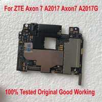 100% testé travail Original déverrouiller la carte mère pour ZTE Axon 7 A2017 Axon7 A2017G carte mère frais câble ensemble d'accessoires