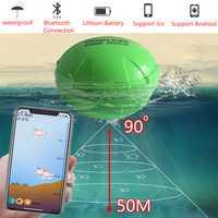 Buscador de peces portátil Bluetooth inalámbrico Echo Sónar sonda Sensor de profundidad Fishfinder para la Pesca del Mar del lago IOS y Android