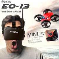 Eachine E013 Micro FPV course Drone quadrirotor avec 5.8G 1000TVL 40CH caméra VR006 VR-006 3 pouces lunettes lunettes casque