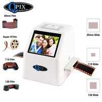 De alta resolución 22 MP 110 135 126KPK Super 8 negativo escáner de diapositivas de 35mm escáner de película de cine Digital convertidor 2,4
