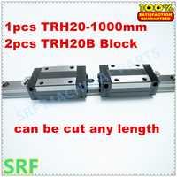 De alta precisión de 1 unids guía lineal 20mm TRH20 L = 1000mm carril lineal + 2 unids TRH20B deslizante bloque rodamiento lineal carril de guía para cnc