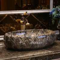 GW-6081 Estilo Vintage alta calidad encimera de cerámica de arte lavabo contrario lavabo del baño artístico lavabo hecho a mano