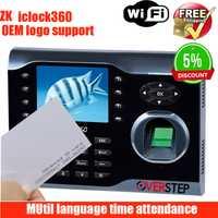 ZK iclock300 8000 huellas TCP/IP de huellas dactilares tiempo asistencia Terminal con tarjeta apoyo mutil idioma con wifi